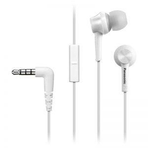 Kõrvaklapid Panasonic, mikr, nööp, valge