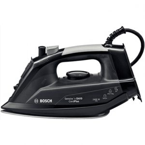 Iron Bosch TDA102411C Black, 2400 W, With cord, Continuous steam 35 g/min, Steam boost performance 140 g/min, Auto power off, Anti-drip function, Anti-scale system, Vertical steam function, Water tank capacity 300 ml