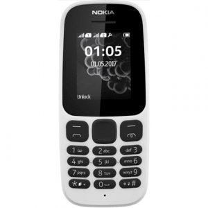 "Nokia 105 (2017) White, 1.4 "", TFT, 120 x 160 pixels, 4 MB, 4 MB, Dual SIM, Mini-SIM, USB version microUSB 2.0, Main camera No camera MP, 800 mAh"