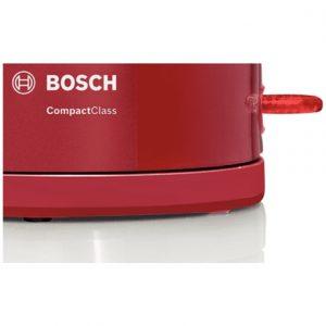 Bosch Kettle TWK3A014 Standard, Plastic, Red, 2400 W, 360° rotational base, 1.7 L