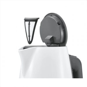 Bosch TWK6A011 Standard kettle, Stainless steel, White, 2400 W, 360° rotational base, 1.7 L