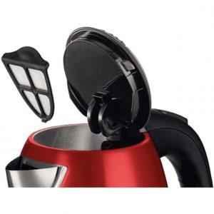 Bosch Kettle TWK7804 Standard, Stainless steel, Red, 2200 W, 360° rotational base, 1.7 L