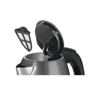 Bosch TWK7805 Standard kettle, Stainless steel, Black, 2200 W, 360° rotational base, 1.7 L