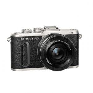 Olympus PEN E-PL8 + 14-42mm EZ Pancake Mirrorless Camera Kit, 16.1 MP, ISO 25600, Display diagonal 7.62 cm, Video recording, Wi-Fi, TTL, Magnification 14 x, Live MOS, Black/Silver, Image sensor size (W x H) 17.3 x 13 mm