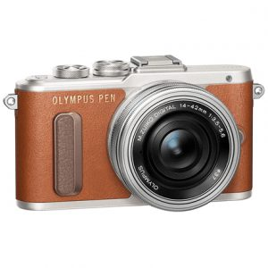 "Olympus PEN E-PL8 + 14-42mm EZ Pancake Mirrorless Camera Kit, 16.1 MP, ISO 25600, Display diagonal 7.62 "", Video recording, Wi-Fi, TTL, Magnification 14 x, Live MOS, Brown/Silver, Image sensor size (W x H) 17.3 x 13 """