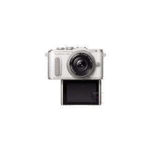 Olympus PEN E-PL8 + 14-42mm EZ Pancake Mirrorless Camera Kit, 16.1 MP, ISO 25600, Display diagonal 7.62 cm, Video recording, Wi-Fi, TTL, Live MOS, White/Silver, Image sensor size (W x H) 17.3 x 13 mm