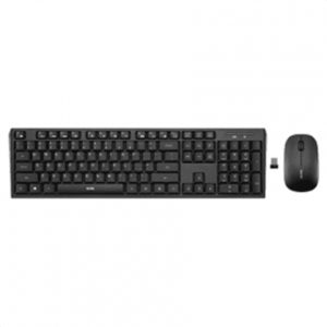 Acme Right Now WS08LT Wireless keyboard and mouse, Wireless, Keyboard layout EN/LT/RU, EN/LT/RU, Numeric keypad, 420 g, Black, No, Wireless connection Yes, Mouse included, USB,