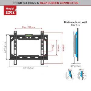 Barkan fikskinnitus E202+.B 13-39″ lame- ja nõgusa ekraaniga teleritele