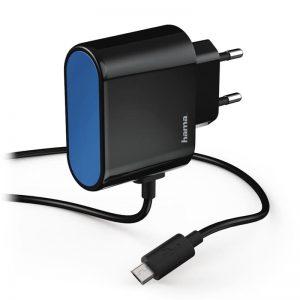 Toalaadija Hama USB micro juhe, 2,4A must