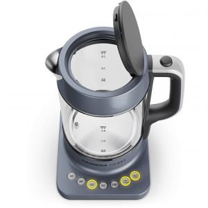 Carrera Kettle 651 With electronic control, Glass, Glass/ black, 2200 W, 360° rotational base, 1.7 L