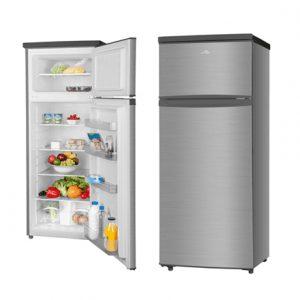 ETA Refrigerator ETA236590010 Free standing, Double door, Height 143 cm, A++, Fridge net capacity 171 L, Freezer net capacity 41 L, 42 dB, Stainless steel