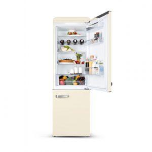 ETA Storio retro refrigerator ETA237790040 Free standing, Combi, Height 192 cm, A++, Fridge net capacity 216 L, Freezer net capacity 84 L, 42 dB, Beige