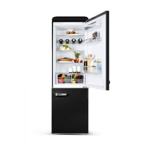 ETA Storio retro refrigerator ETA237990020 Free standing, Combi, Height 192 cm, A++, Fridge net capacity 216 L, Freezer net capacity 84 L, 42 dB, Black