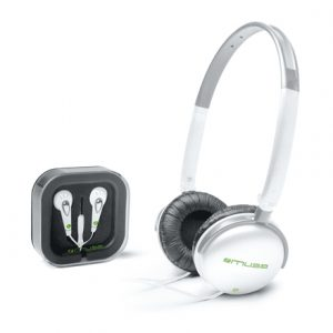 Muse 2-IN-1 Combo Stereo Headphones + Earphones M-120CFW In-ear/Head-band, 3.5mm (1/8 inch), White, No, No