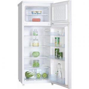 Goddess Refrigerator GODRDB0143GW8 Free standing, Double Door, Height 143 cm, A+, Fridge net capacity 171 L, Freezer net capacity 41 L, 42 dB, White