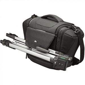 Case Logic Large SLRC Camera Case Interior dimensions (W x D x H) 139.7 x 228.6 x 180. mm, Black, * Professional aesthetic with a touch of outdoor look;* Large shoulder bag to securely hold 1 SLR camera & 4 lenses;* Front & side pockets to store extra accessories;* Integrated tripod attachment system;* EVA base improves impact & moist protection & gives extra stability;* Handle & shoulder strap